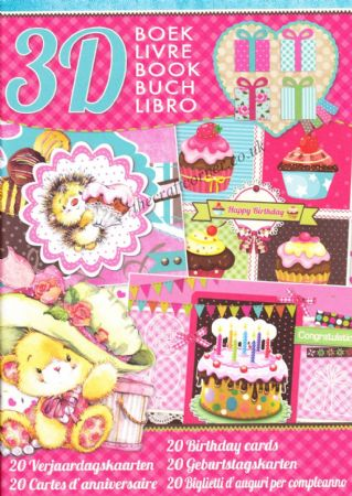 20 Birthday Cards 3D Decoupage A4 Book By Studio Light